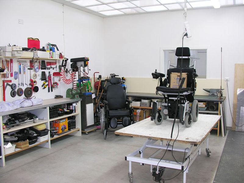 neri team centri ausili - laboratorio sedia a rotella